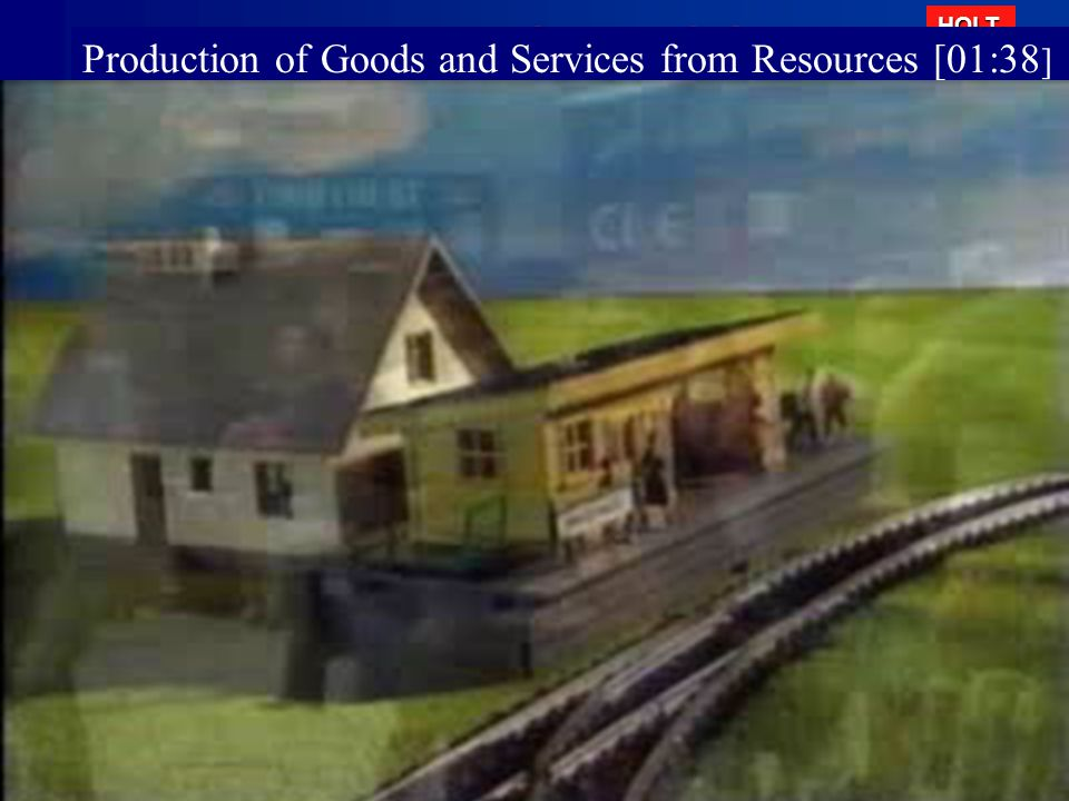 Production of Goods and Services from Resources [01:38]
